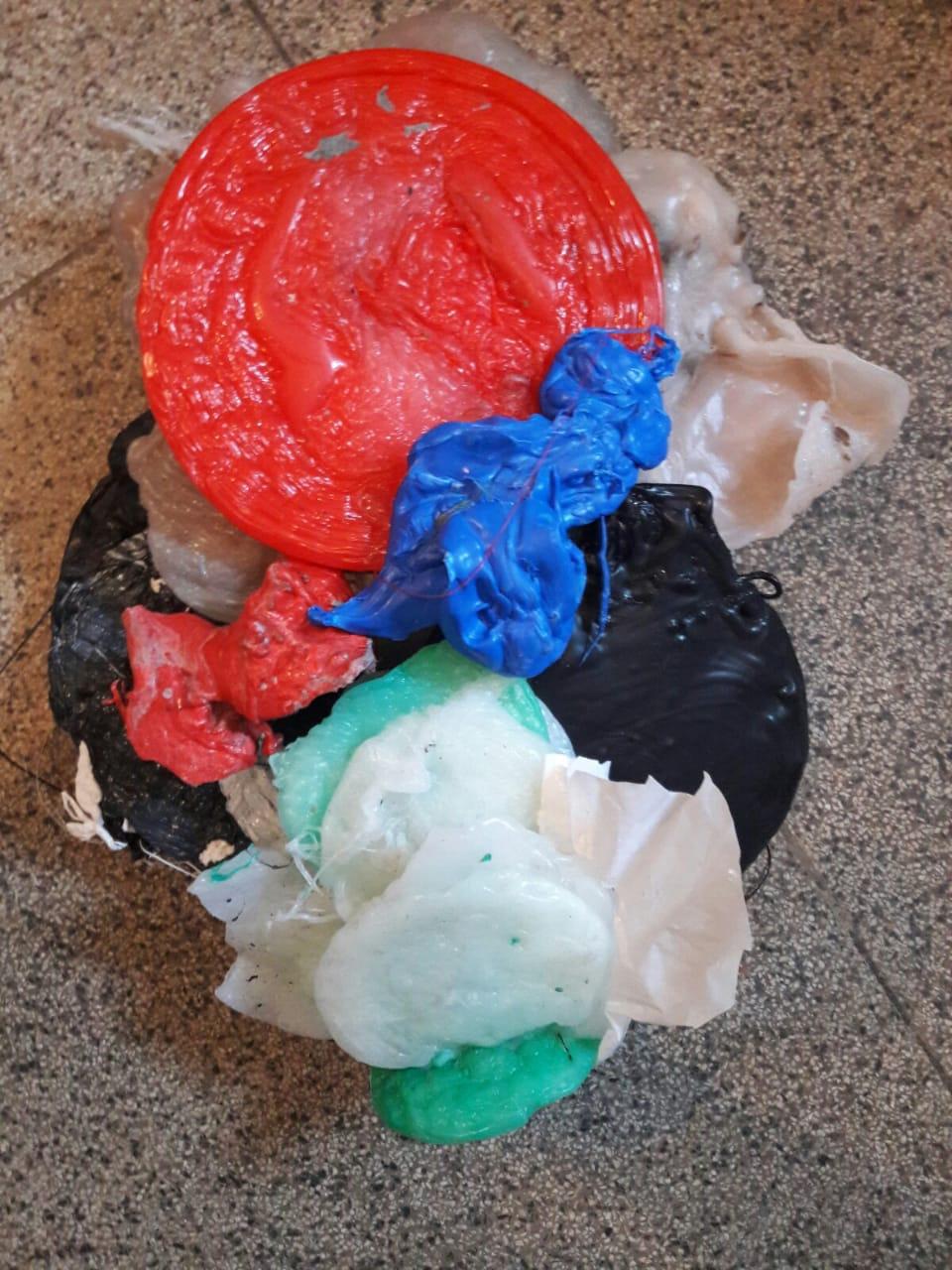 Sucata de plásticos: borras