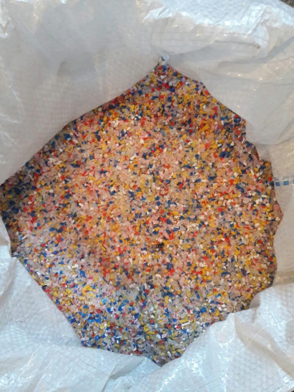 Sucata de plásticos: varreduras