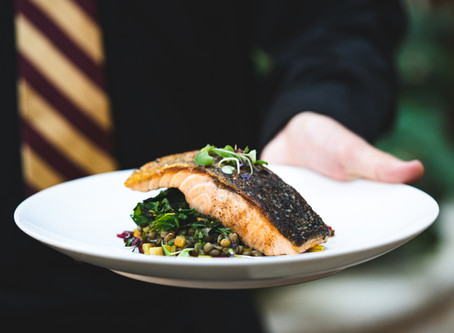 Saumon Poêlé aux Lentilles: Bistro Perrier's Head Chef Shares His Recipe for Salmon with Lentils