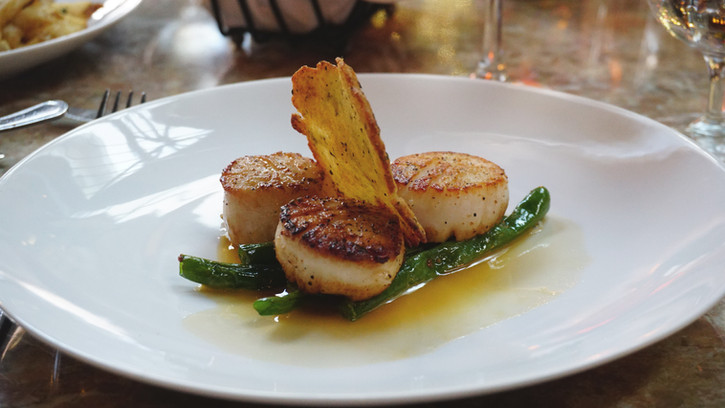 Signature Perrier Dish - Coquilles St. Jacques
