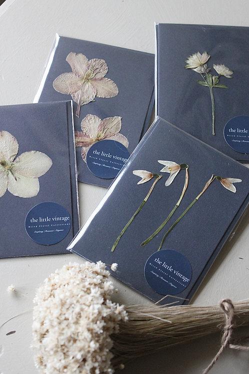 Pressed Dried Floral Greeting Card