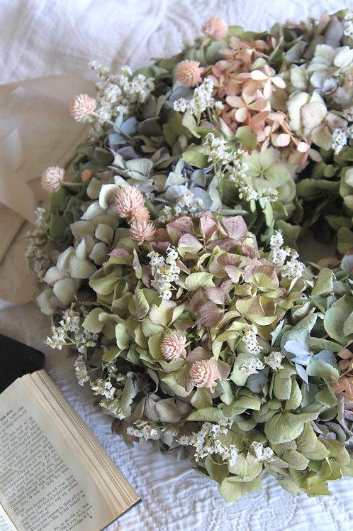 Hydrangea & Clover Wreath