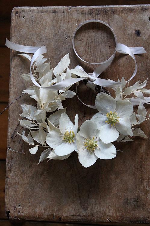 Cream Hellebores Wreath