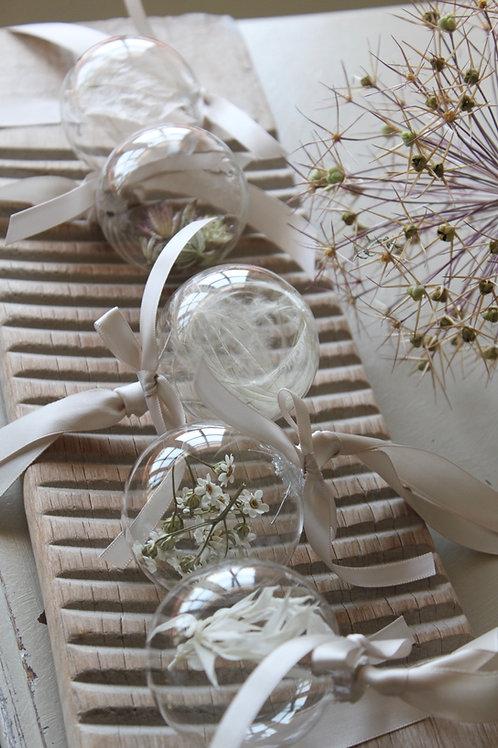 Floral Glass Decoration (Set of 5)
