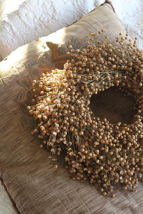 Natural Flax Wreath