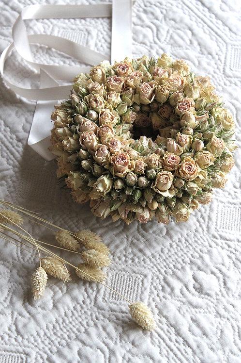 Miniature Blush Rose Wreath