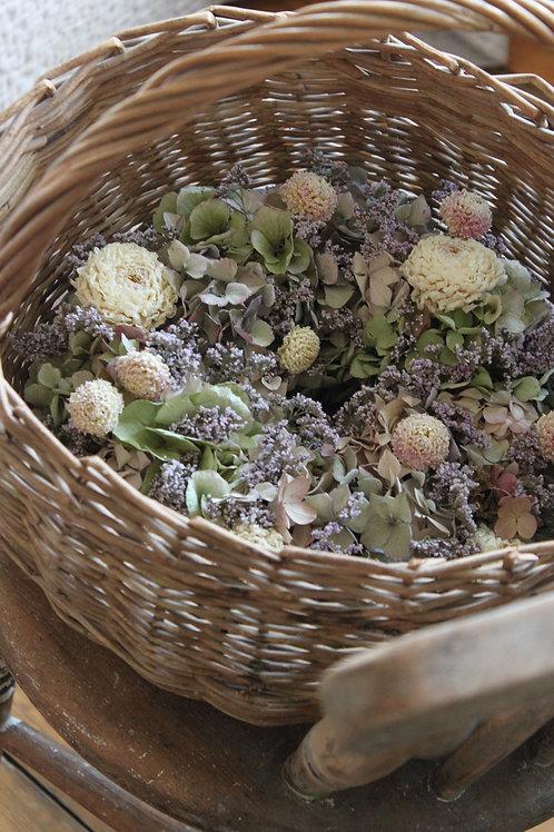Dahlia, Sea Lavender & Hydrangea Wreath
