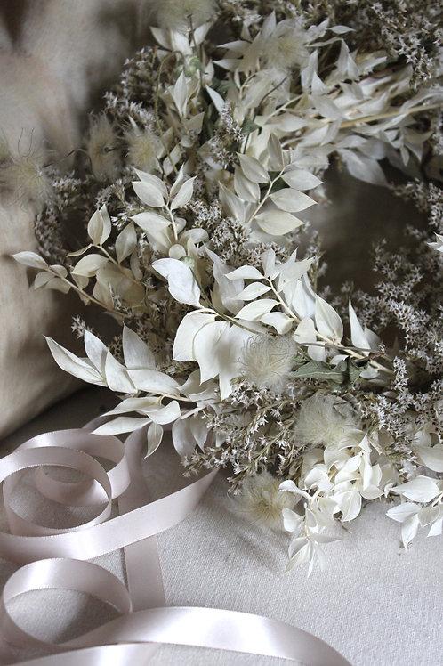 Statice & Clematis Wreath
