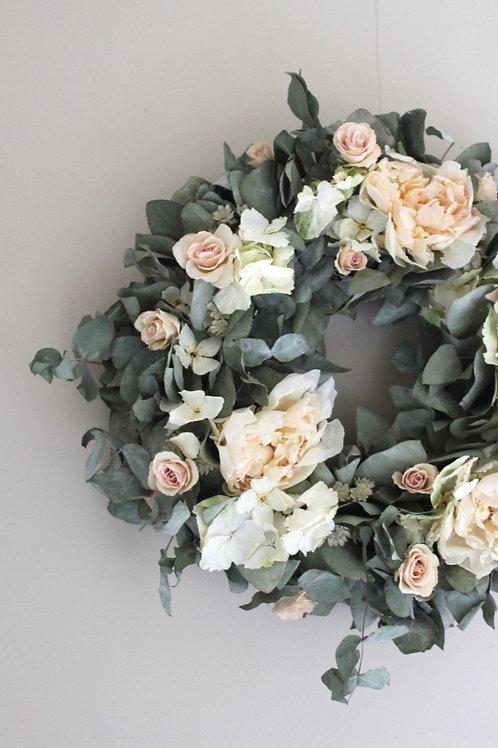 Peony,Rose & Hydrangea Wreath (Large)