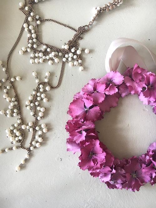 Pink Hydrangea Miniature Wreath