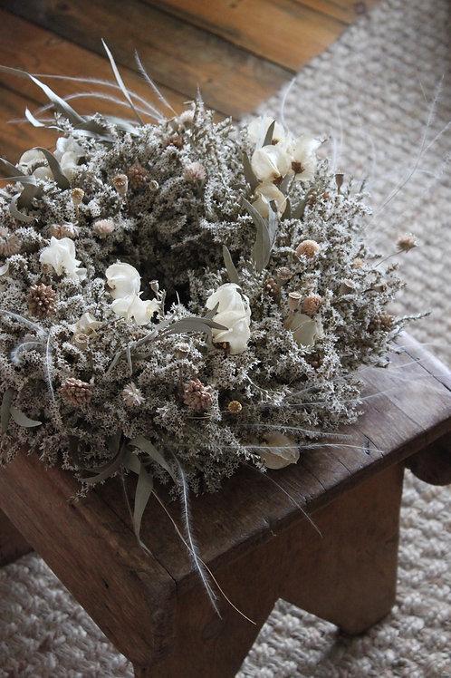 Bougainvillea, Clover & Statice Wreath (Large)