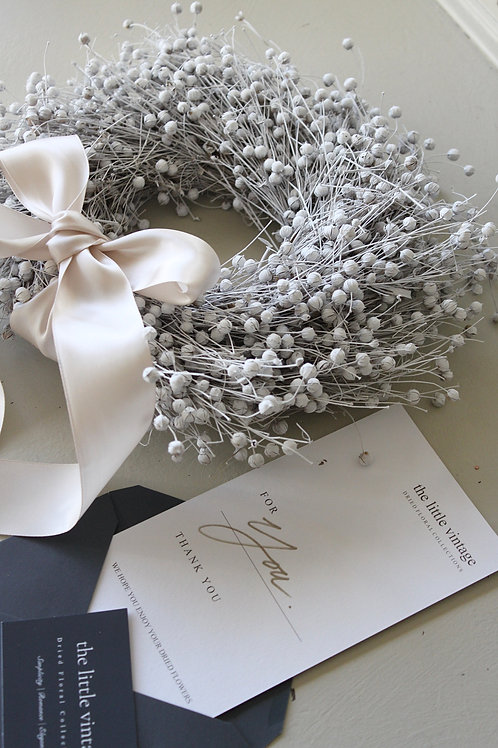 White Linseed Wreath (Small)