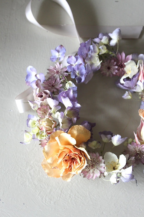 Hydrangea & Rose Miniature Wreath