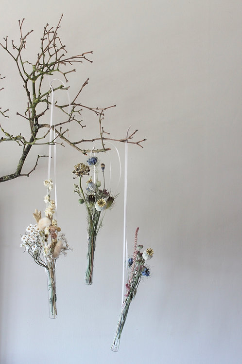 Large Floral Hanging Vase with Posie (Single)