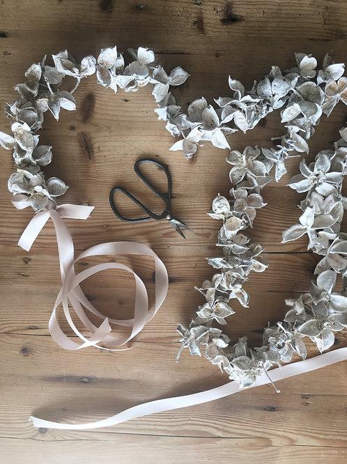White Cotton Pod Garland
