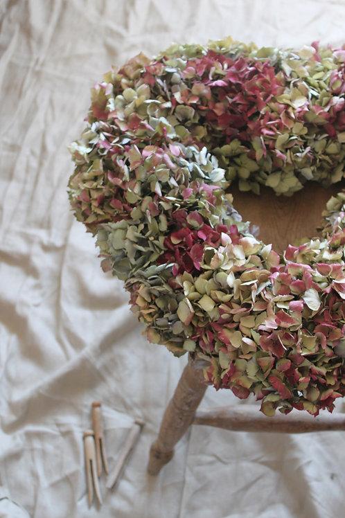 Giant Hydrangea Heart Wreath