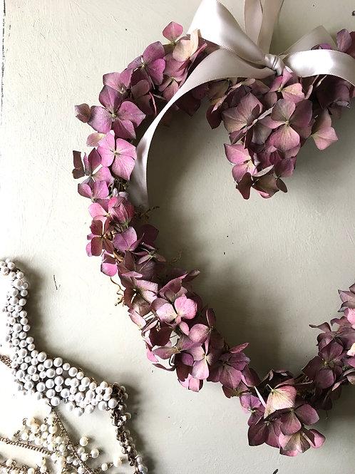 Pink Hydrangea Heart
