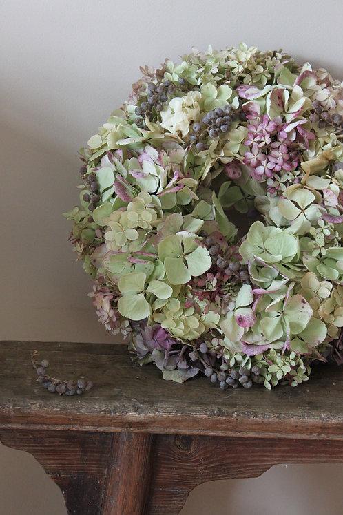 Dadel & Hydrangea Bloomer Wreath