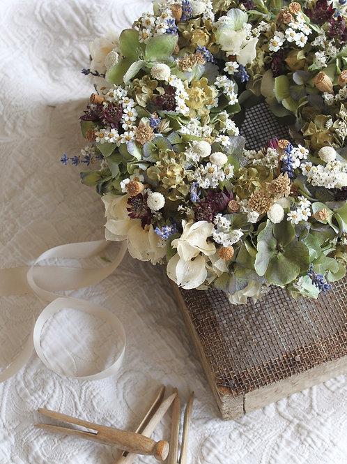 Hydrangea, Hellebore & Lavender Wreath (Small)