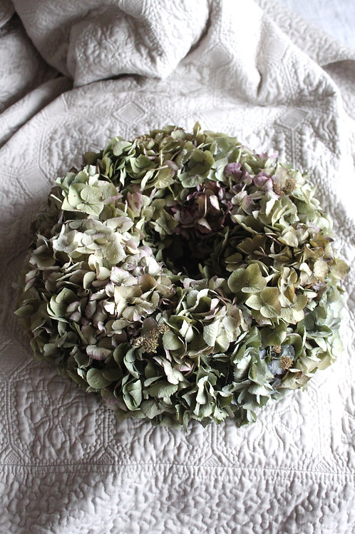 Green and Mauve Hydrangea Bloomer (Large)