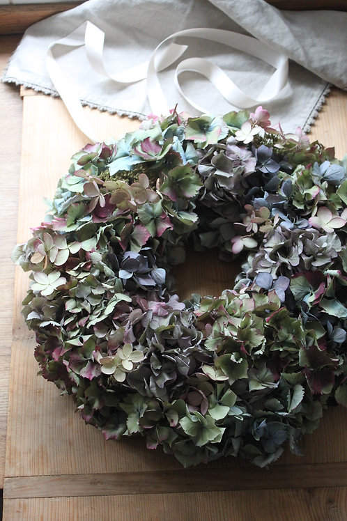 Mauve Hydrangea Bloomer Wreath (Large)