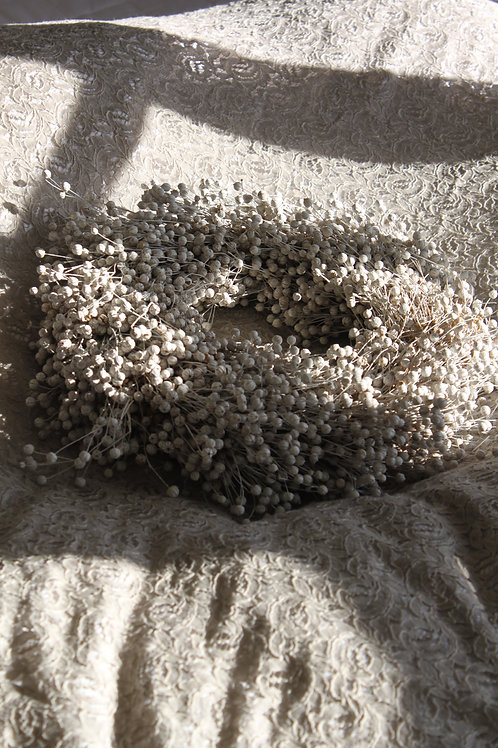 White Washed Flax Wreath