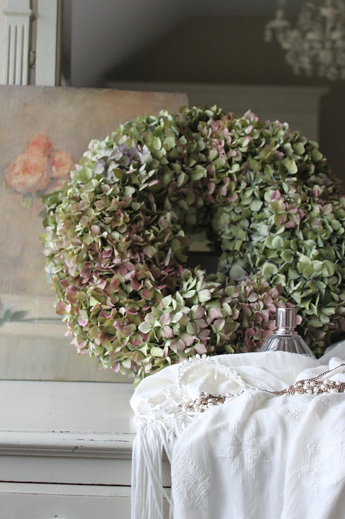 Green & Mauve Hydrangea Bloomer (Large)