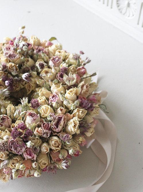 Vintage Roses & Astrantia Wreath