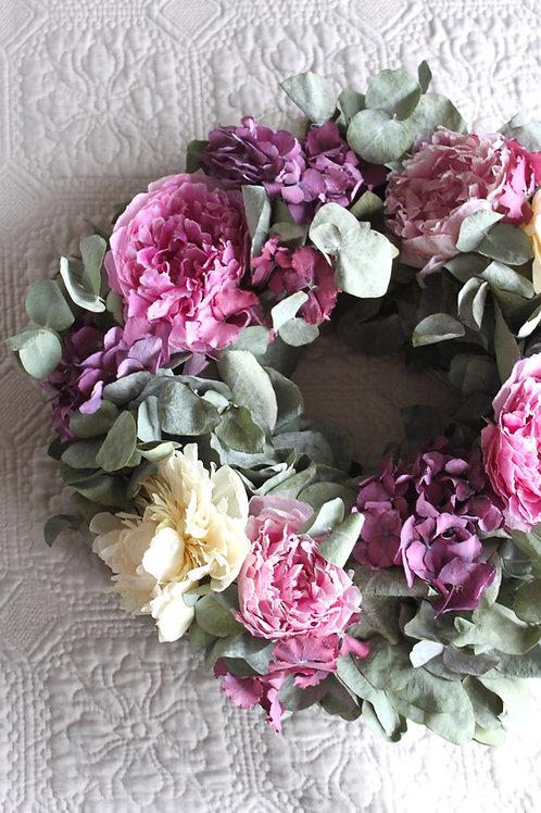 Peony & Hydrangea Wreath (Large)
