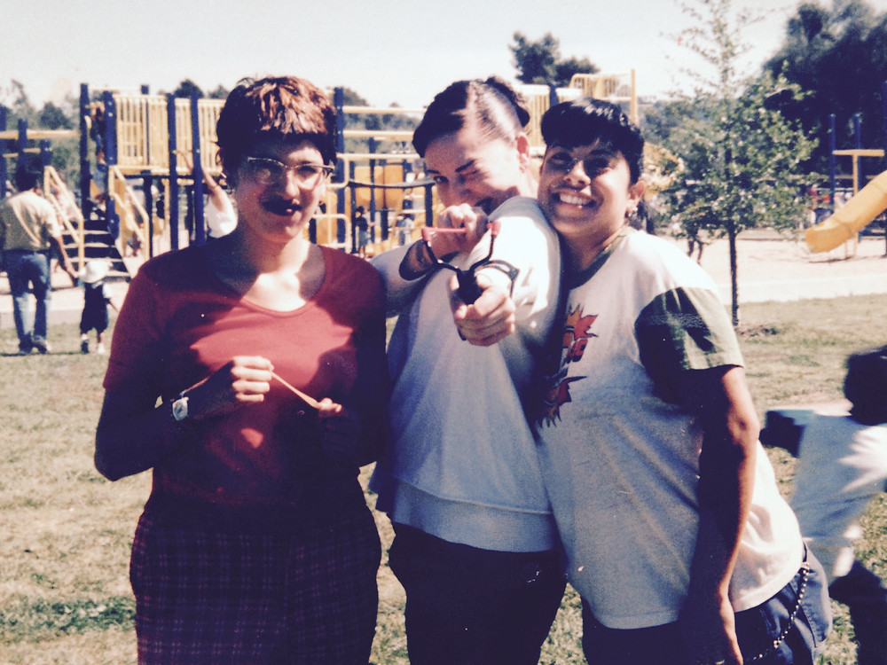 Torie, Ceci, and Mari in the 1990s