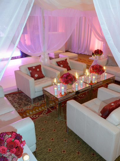 Red and white event design