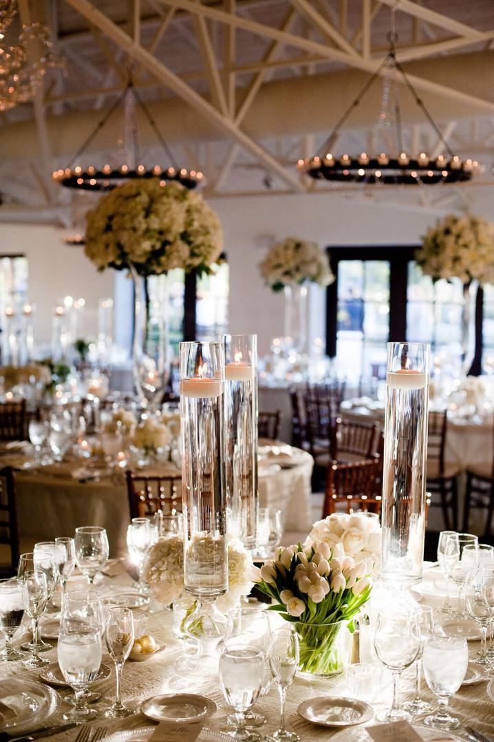 Custom all white floral arrangments