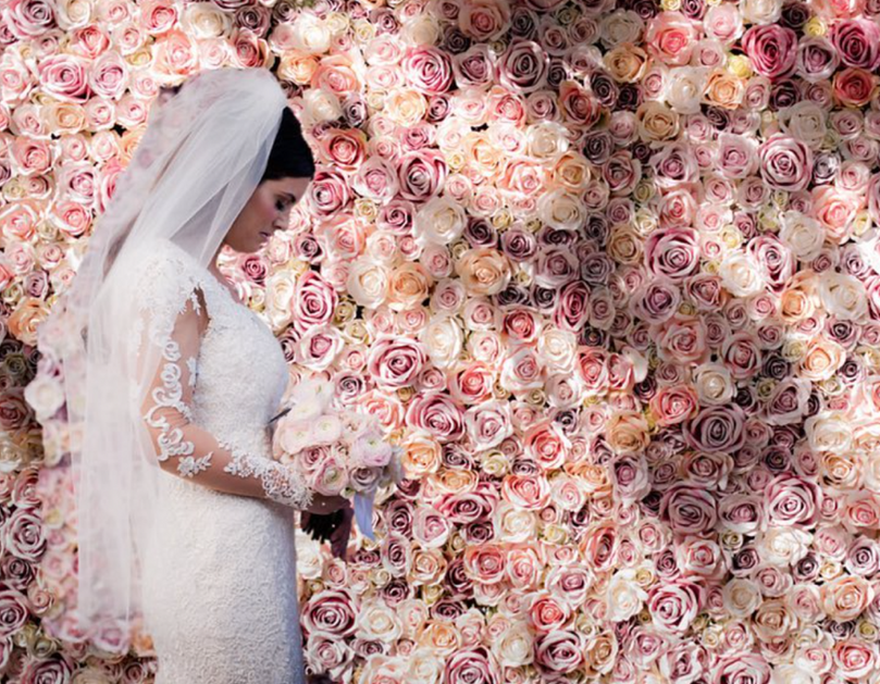 Silk Rose Wall