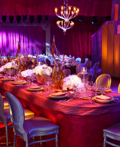 Gorgeous centerpieces for this corporate table design