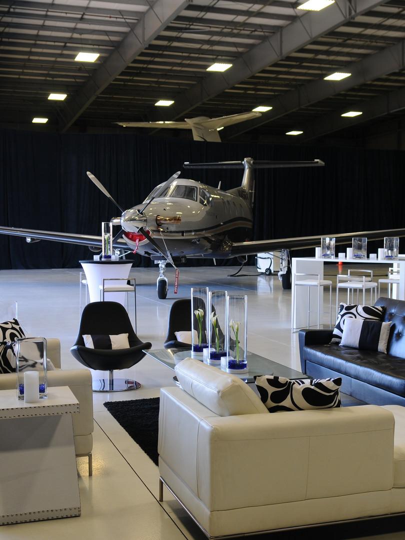 Airplane hangar event design
