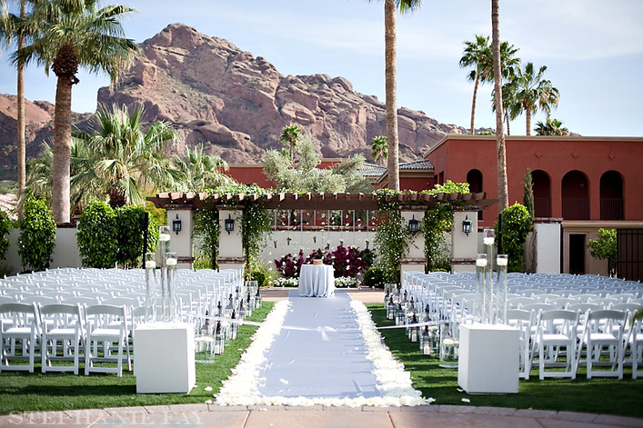 Ceremony design at Montelucia Resort