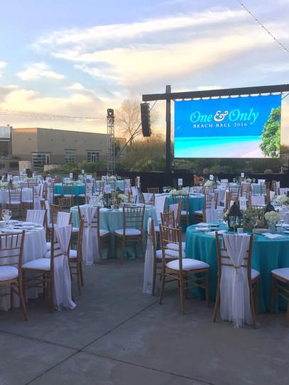 Outdoor corporate event design