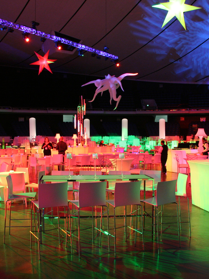 Colorful corporate event design