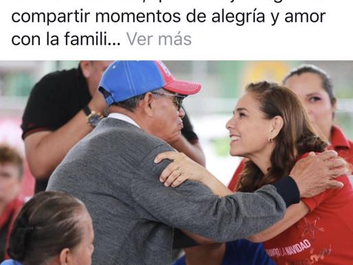 MARA LEZAMA Y SU PROSELITISMO DISFRAZADO DE AYUDA MUNICIPAL.