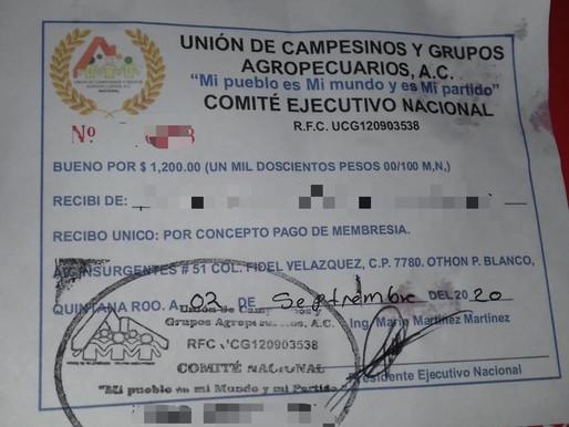 UNIÓN DE CAMPESINOS Y GRUPOS AGROPECUARIOS VENDE TERRENOS SIN ESPECIFICAR EN DÓNDE.