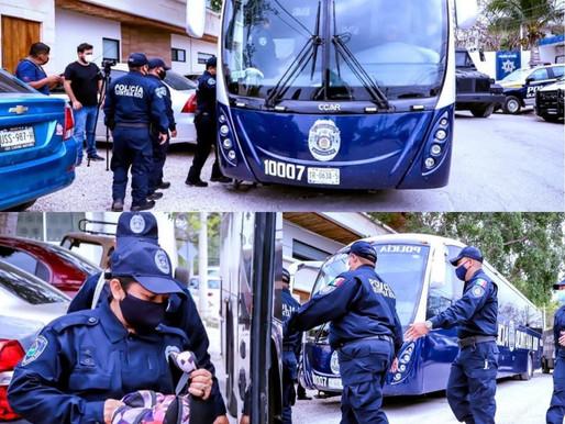 POLICIA QUINTANA ROO SSP DEL EDO TOMA EL MANDO EN TULUM.