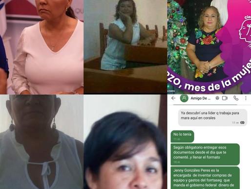 MARA LEZAMA EN ACTOS ANTICIPADOS DE CAMPAÑA OFRECE DINERO, DESPENSAS Y APOYOS.