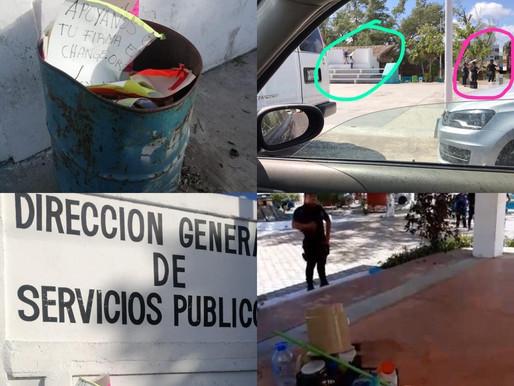 LAURA FERNÁNDEZ ORDENA VIOLENTO DESALOJO DEL PARQUE DEL CASCO ANTIGUO EN PTO MORELOS.
