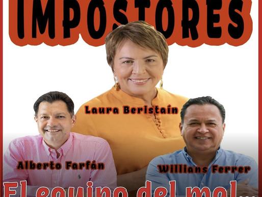 ALBERTO FARFÁN, WILLIANS FERRER Y LAURA BERISTAÍN UN TRIO DE CORRUPTOS.