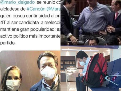 REUNIÓN SECRETA ENTRE MARIO DELGADO Y NIÑO VERDE EN CANCÚN.