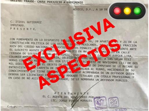 EXCLUSIVA ASPECTOS: CON UN PIE EN LA CÁRCEL LA DEFRAUDADORA ITZEL GUTIERREZ.
