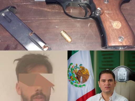 CUÑADO DEL EXDIPUTADO JUAN CARLOS PEREIRA, AMENAZÓ CON PISTOLA A OPERADOR DE GRÚA EN SOLIDARIDAD.