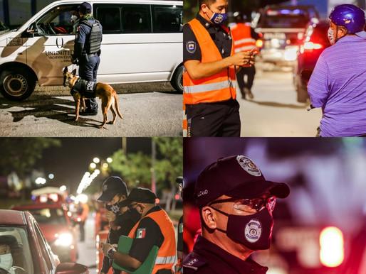 POLICIA QUINTANA ROO REFUERZA ALCOHOLIMETRO EN COZUMEL.