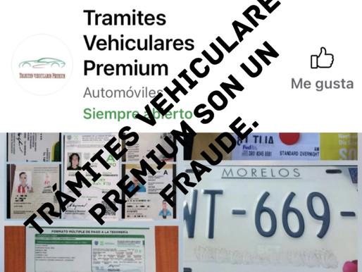 TRAMITES VEHICULARES PREMIUM ESPECIALISTAS EN FRAUDES CON PLACAS, TRAMITES Y LICENCIAS FAKE.