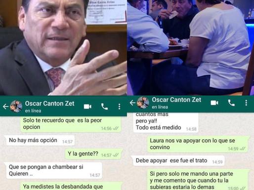 "DESMIENTE OSCAR CANTÓN ""PANTALLAZOS"" DE WHATSAPP: ""ES PARTE DEL REFUEGO CONTRA MORENA."